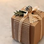 present wrapped with organic gift wrap