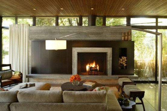 Concrete Fireplaces A Change Of Space