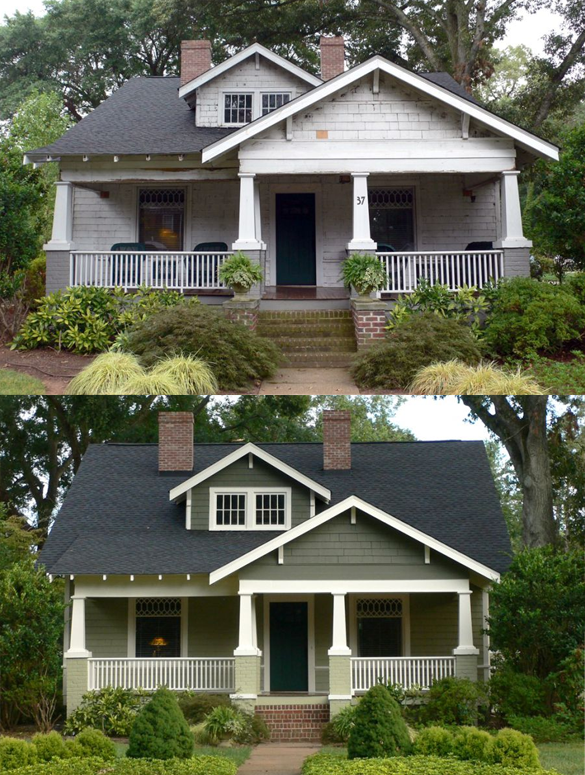 Look at the dramatic change with new exterior paint a for Change exterior of house