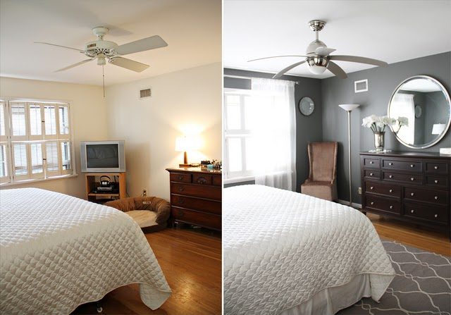 Master Bedroom Before And After Long Distance Interior Design Online