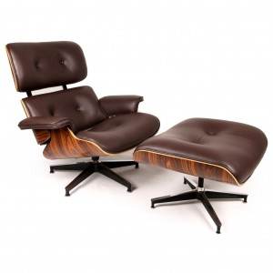 interior-fancy-authentic-eames-chair-with-brown-fabric-leather-cushion-and-chic-swivel-wheel-authentic-eames-lounge-chair