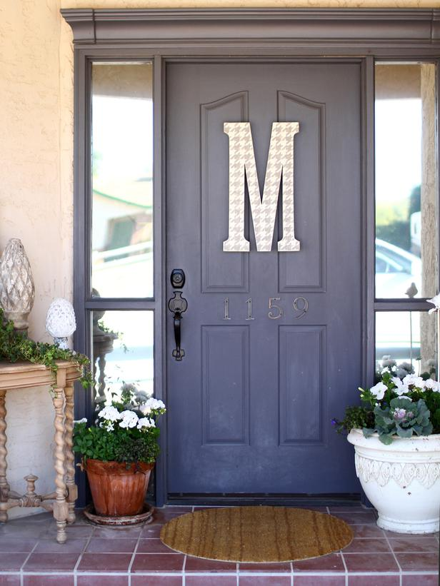 CI-_jill-mckee-blue-front-door-letter-M_v_lg ... & Colors to paint your front door | A Change of Space