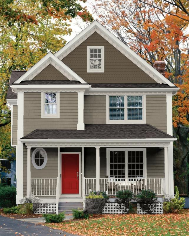 Beautiful exterior paint palettes a change of space - House paint color combinations exterior ...