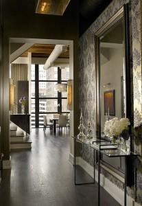 contemporary-entryway-design-interior-vintage-modern-home