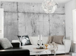 Industrial-Living-Room-Design-Ideas-with-Concrete-Wallpaper
