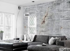 Scandinavian-Living-Room-Decor-with-Concrete-Walpaper