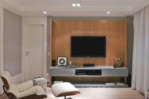 awesome-home-tv-room-decor-with-wooden-wall-and-relaxing-white-chair-decor-idea
