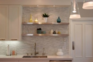awesome-backsplash-kitchen-tile-lowes_gold-metal-double-handle-kitchen-faucet_silver-metal-kitchen-shelves_white-lacquered-wood-kitchen-cabinet_white-high-gloss-wood-countertops-936x623