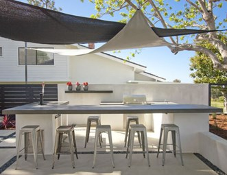 Modern Outdoor Kitchen Shade Sails Dc West Construction Inc_5462