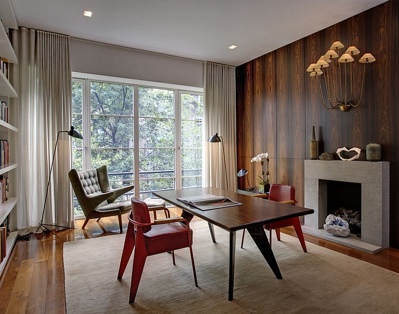 Midcentury-modern-home-office-with-smart-decor | A Change of ...